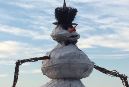 Burning Snowman Fest Port Clinton Ohio Ottawa County Ohio February 2019
