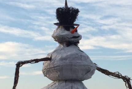 Burning Snowman Fest Port Clinton Ohio Ottawa County Ohio February 2019